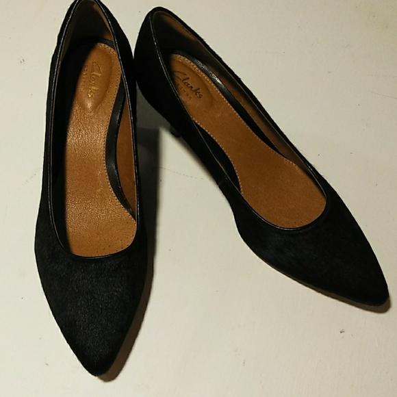3ed3148e5195 Clarks Shoes - Clarks Calf Hair Kitten Heels